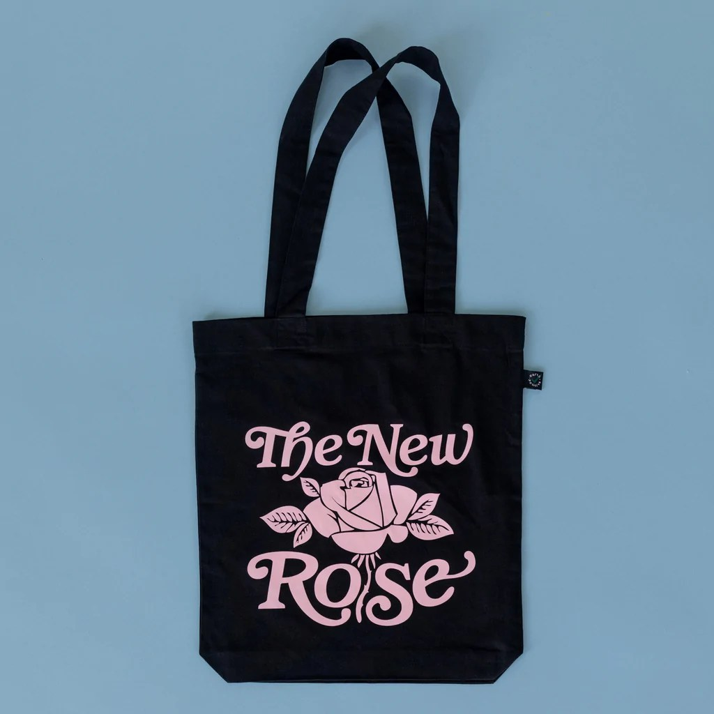 The New Rose Logo Tragetasche Schwarz