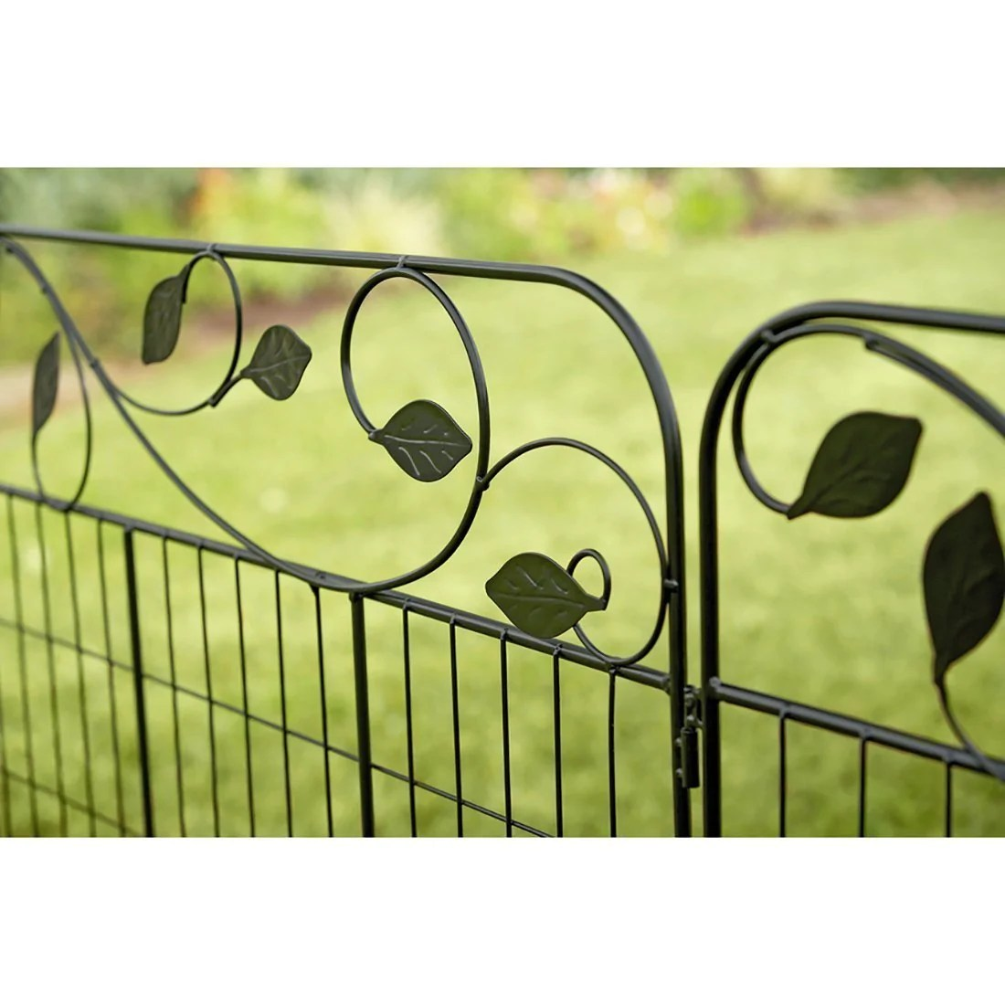 Wire Fencing Garden Fence Gate 44in X 6ft Outdoor Coated Metal Fence Rustproof By Amagabeli