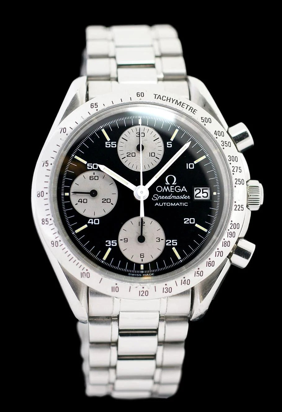 Steel Watch Omega Speedmaster Automatic Date Stainless Steel Watch