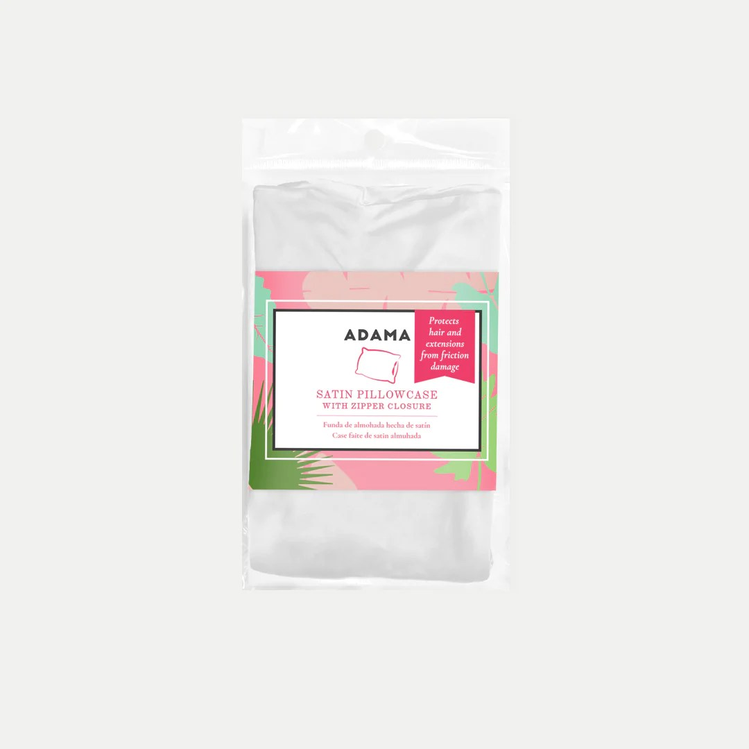 Satin Pillowcases With Zipper Satin Pillow Cases The Healthy Hair Movement Adama Beauty Co