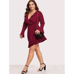 Small Of Plus Size Wrap Dress
