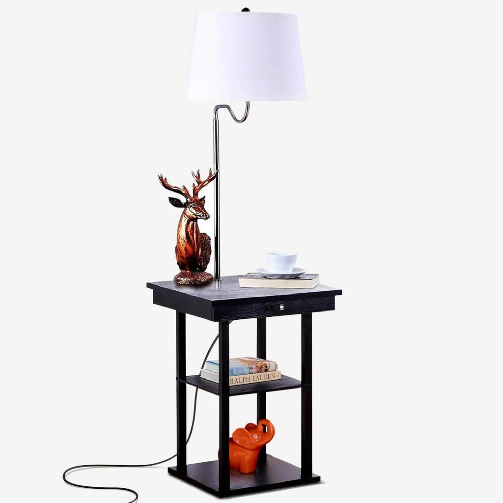 Floor Table Lamps Madison Led Floor And Table Lamp Shelves Usb Port Combination