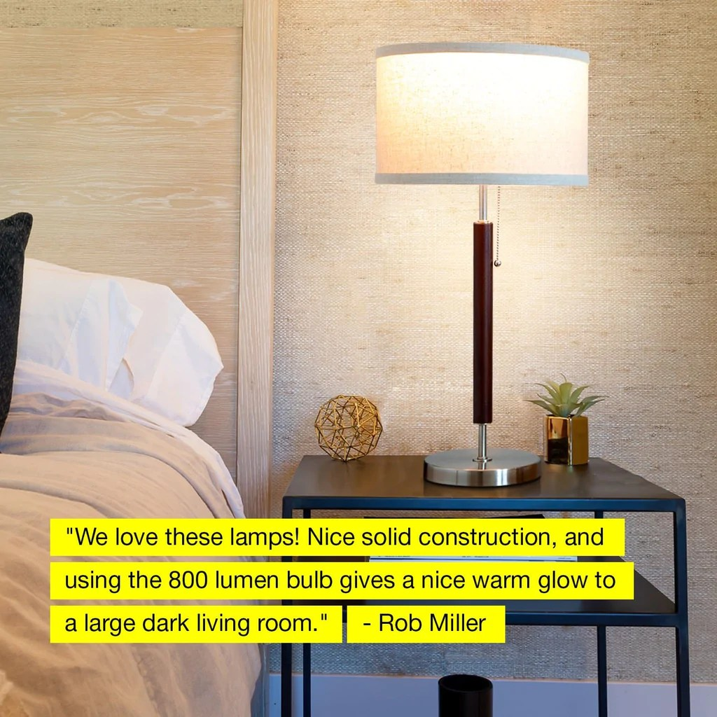 Side Lamps For Living Room Carter Led Desk And Table Lamp For Bedrooms Vintage Look Shade