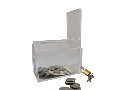 Mcb Small House Shape Coin Collection Box Acrylic