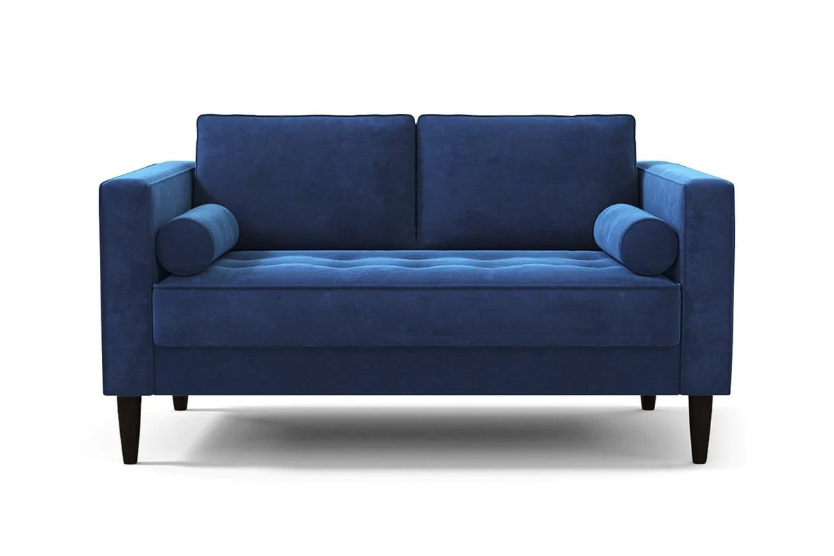 Made Sofa Velvet Delilah Apartment Size Sofa Usa Made Modern Small Space