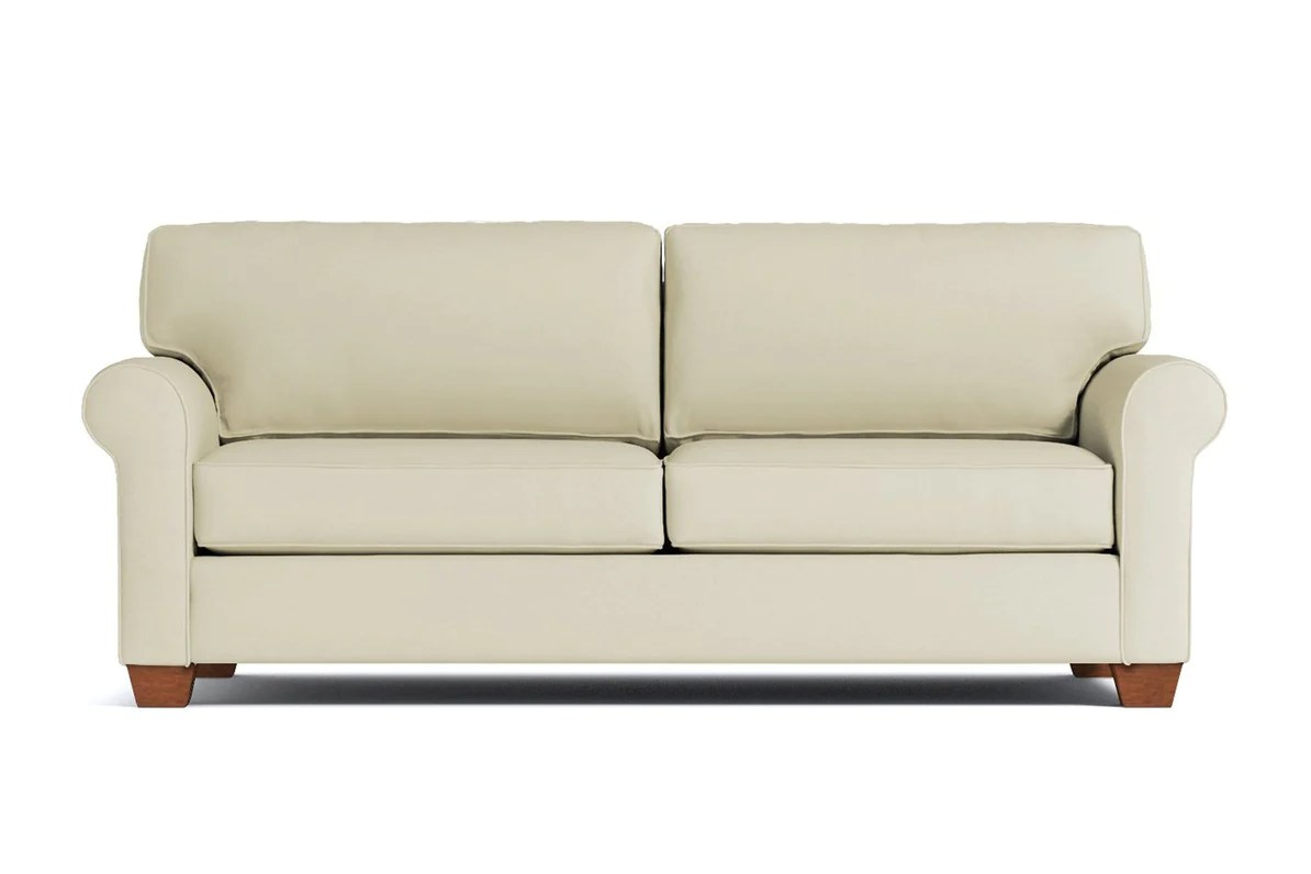 Sofa Queen Lafayette Queen Size Sleeper Sofa Leg Finish Pecan Sleeper Option Deluxe Innerspring Mattress