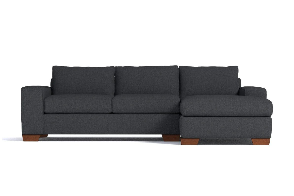 Sleeper Sofa Quick Delivery Melrose 2pc Sectional Sofa Leg Finish Pecan Configuration Raf Chaise On The Right