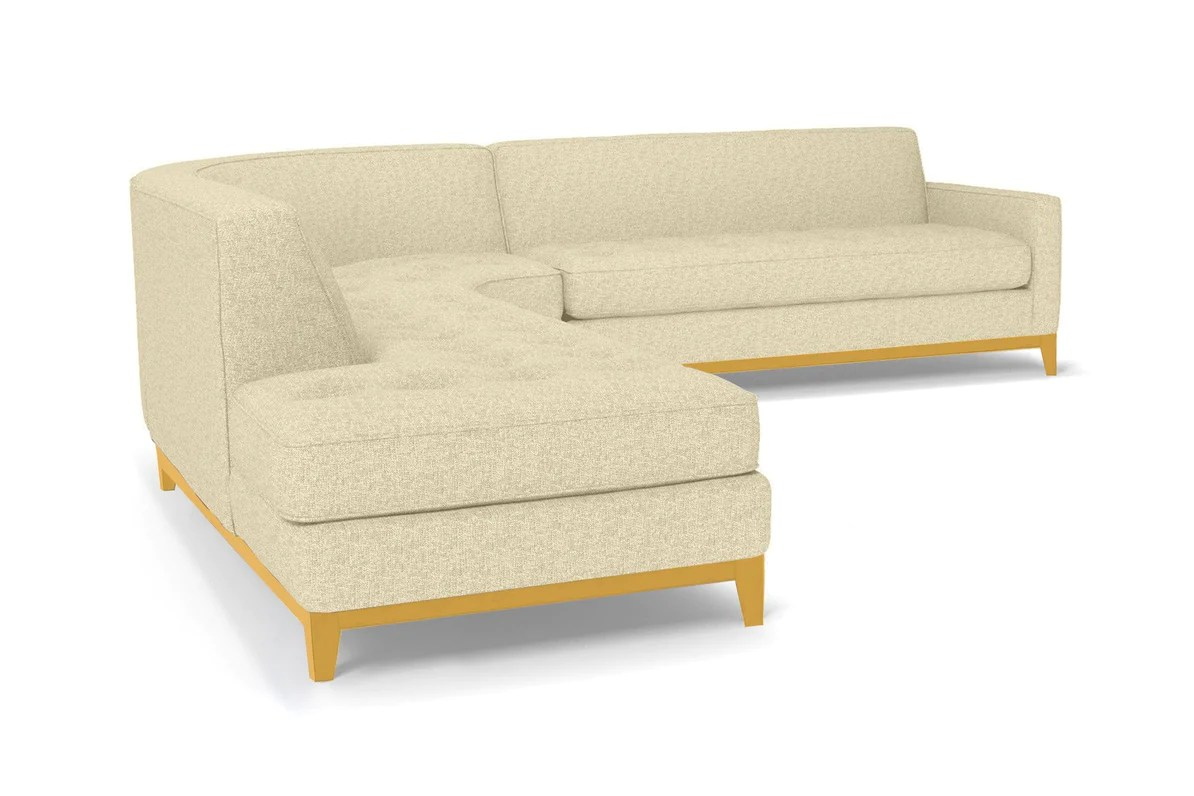 Big Sofa Usa Monroe Drive 3pc Sectional Sofa Leg Finish Natural Configuration Laf Chaise On The Left
