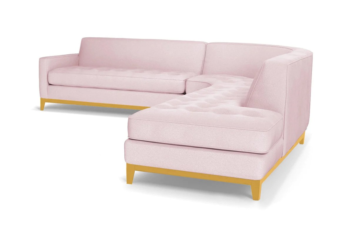 Big Sofa Usa Monroe Drive 3pc Sectional Sofa Leg Finish Natural Configuration Raf Chaise On The Right