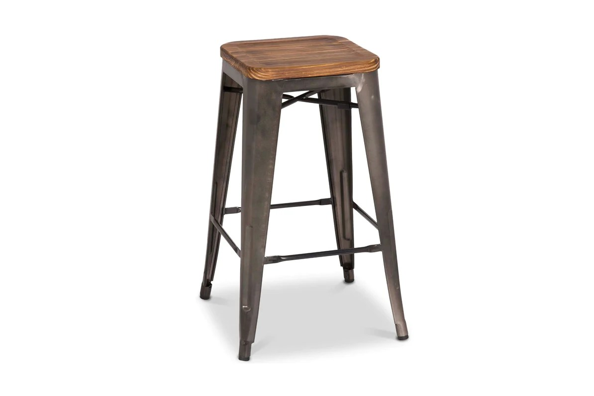 Wooden Kitchen Counter Stools Grand Metal Counter Stool Gunmetal Set Of 4