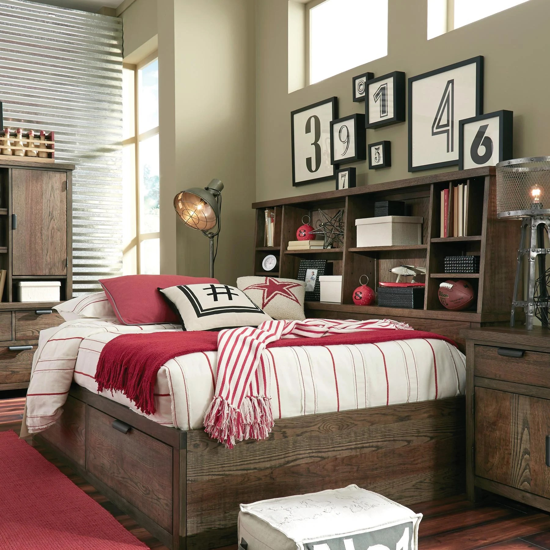 Bookcase Bed Fulton County Full Bookcase Bed With Storage