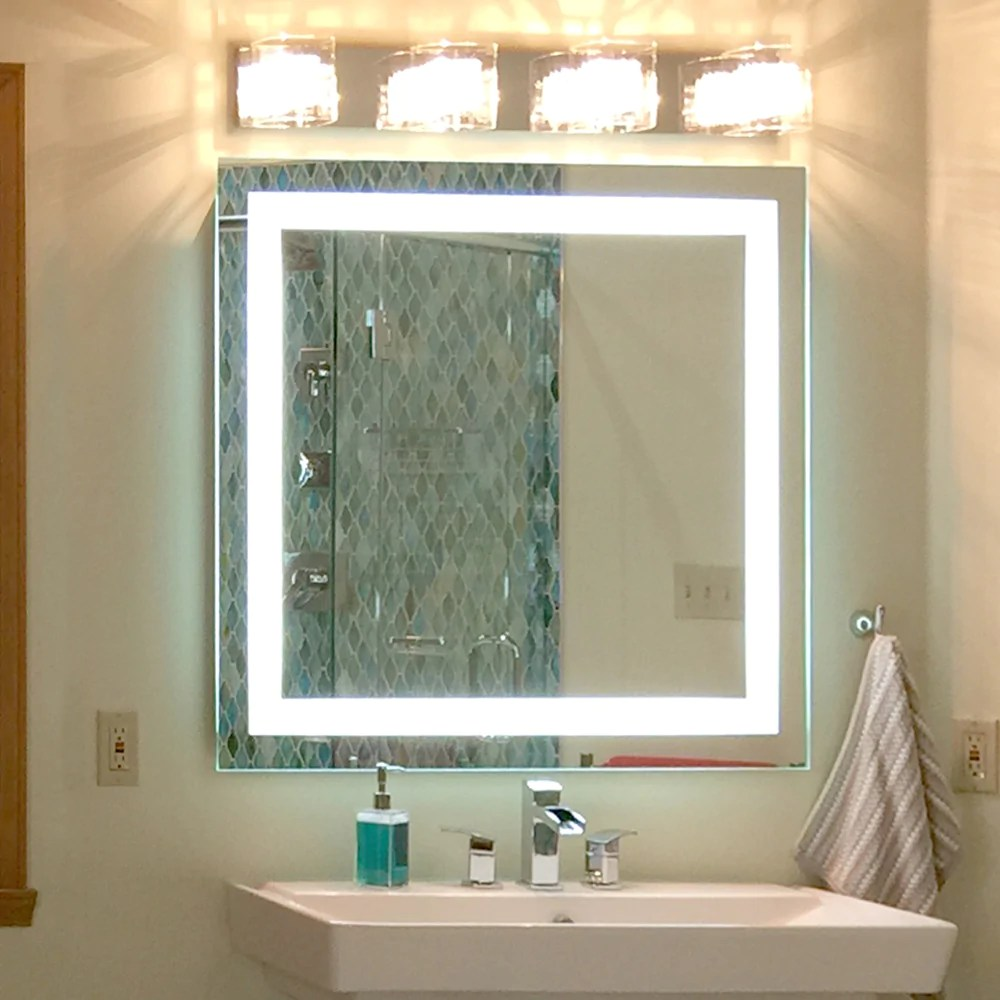 Front Lighted Led Bathroom Vanity Mirror 40