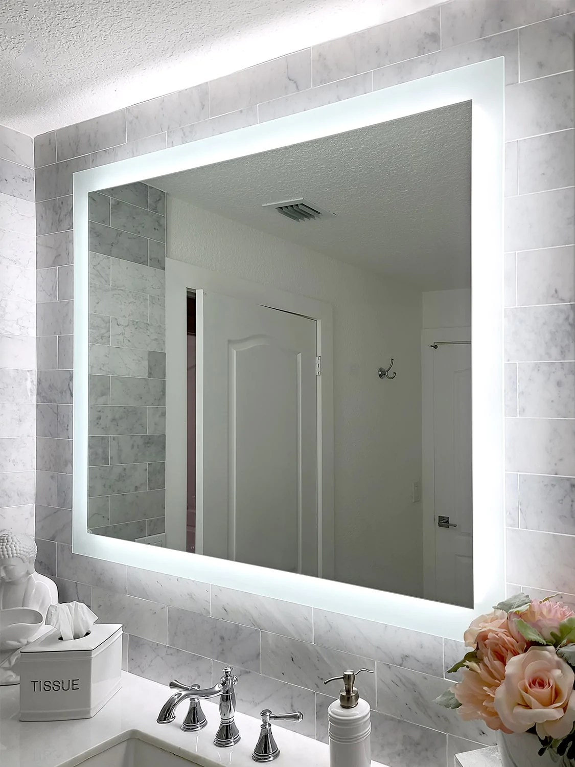 Side Lighted Led Bathroom Vanity Mirror 48