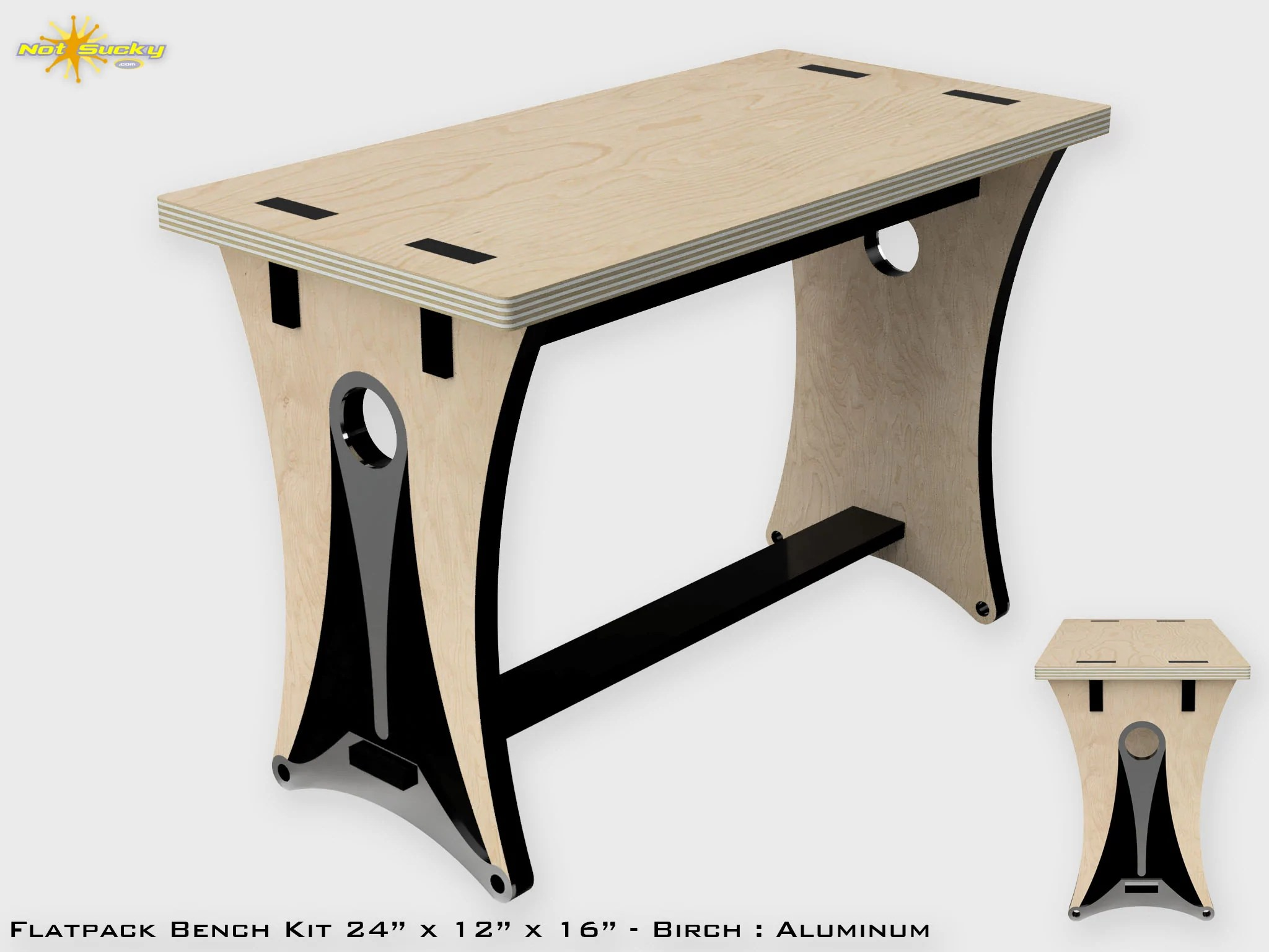 Flat Pack Outdoor Kitchen Flat Pack Bench Kits Diy Simple Modern Notsucky
