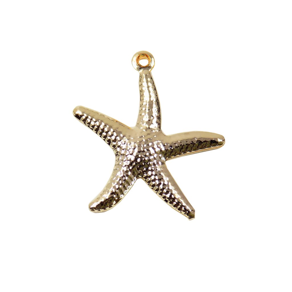 Wholesale Jewelry Gold Filled Starfish Sea Star Pendant Gold Filled Ocean Wholesale