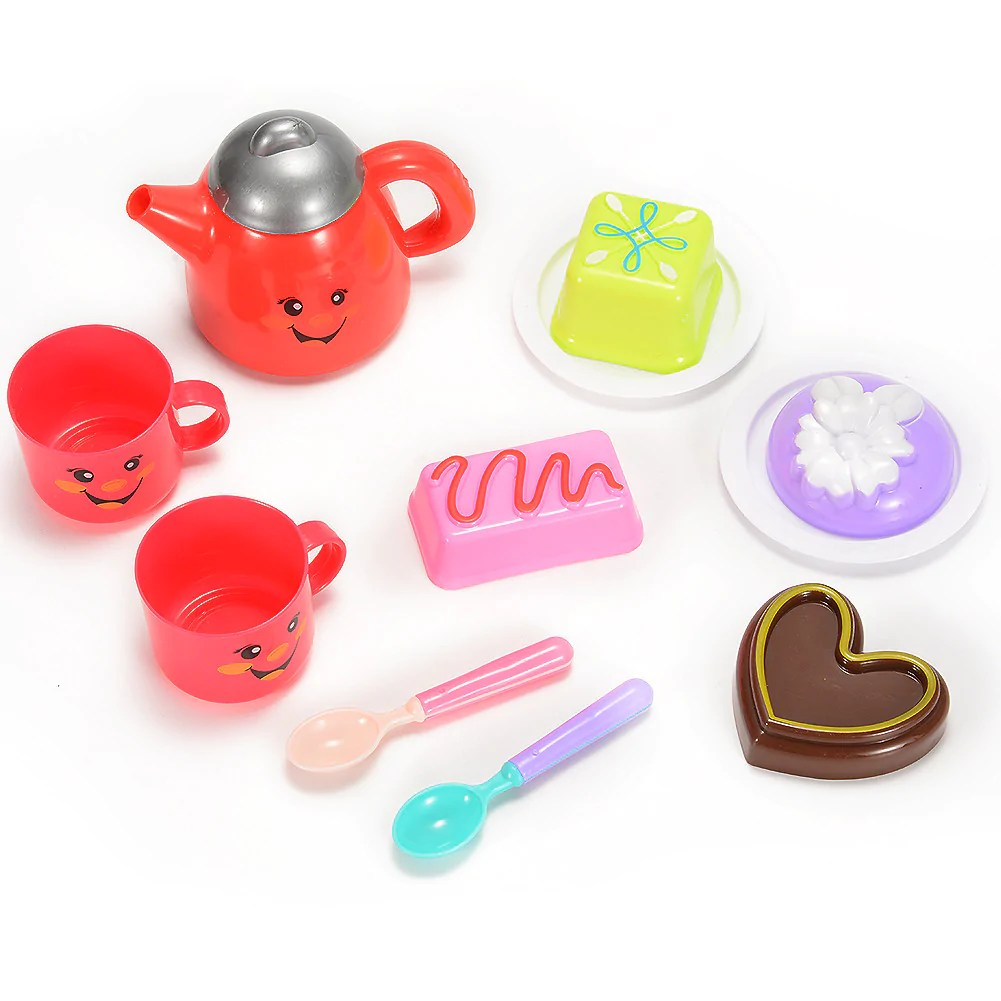 Tea Set Toy Kids Play Tea Set Toy For Children Tea Party Pretend Play Game With Cute Smiley Face Design 11 Pieces