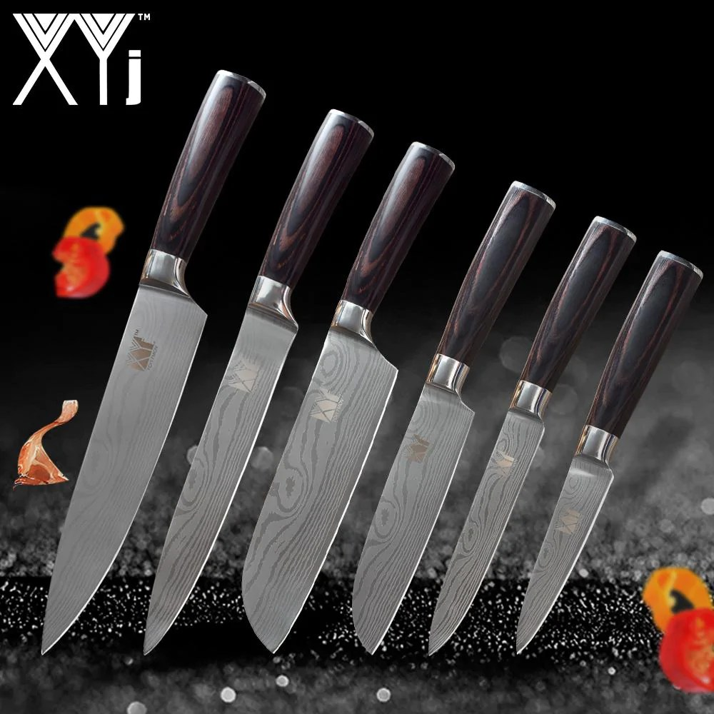 Stainless Steel Knife New Arrival High Carbon Stainless Steel Knives Set Wood Handle