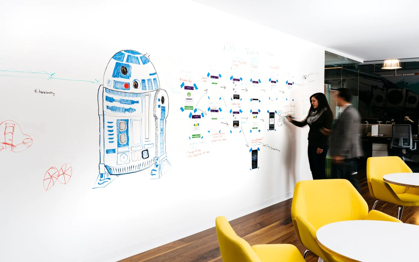 Turn A Wall Into A Whiteboard White Board Paint Dry Erase Paint Whiteboard Paint Ideapaint