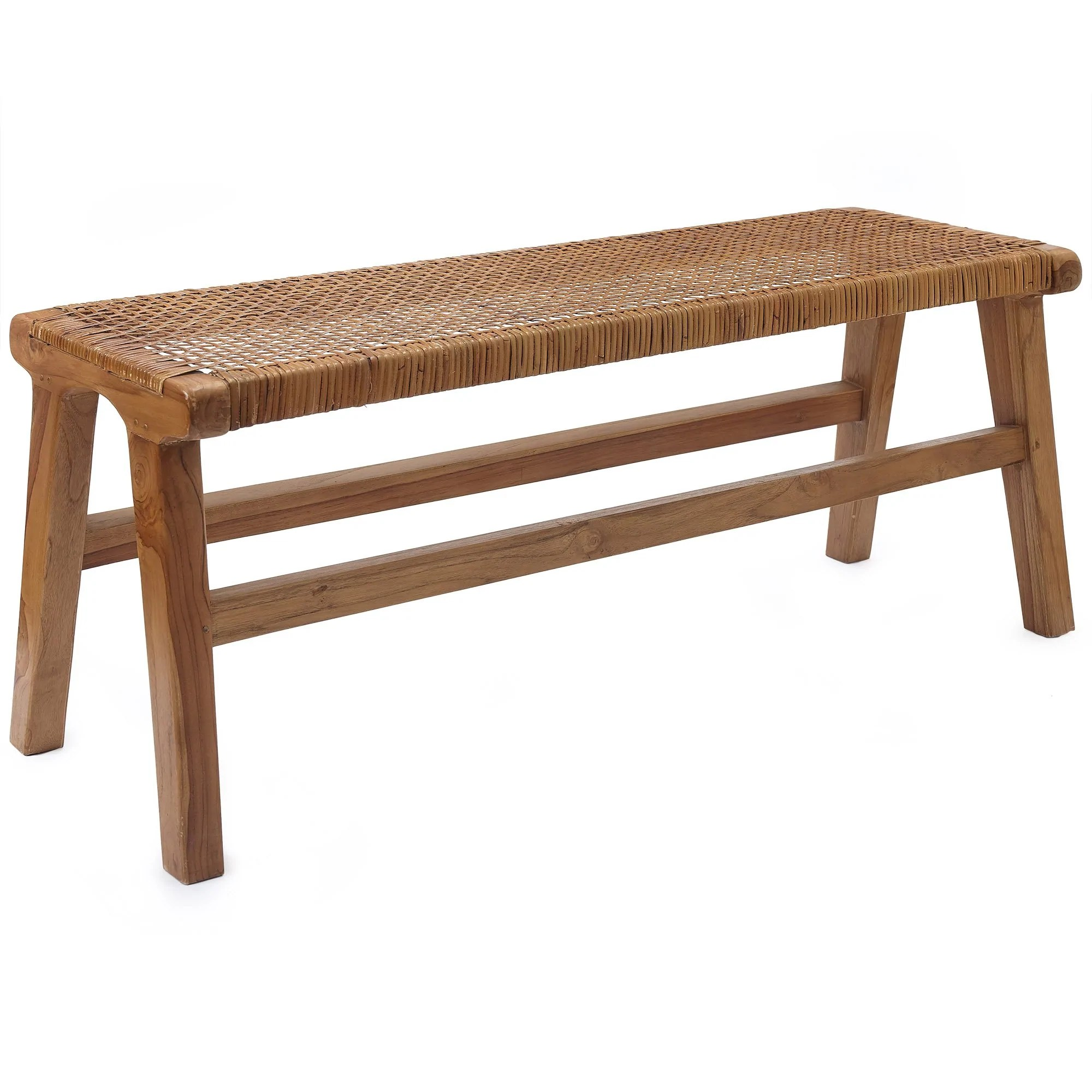 Rattan Hocker Bakaru Rattan Bench Natural Urbanara