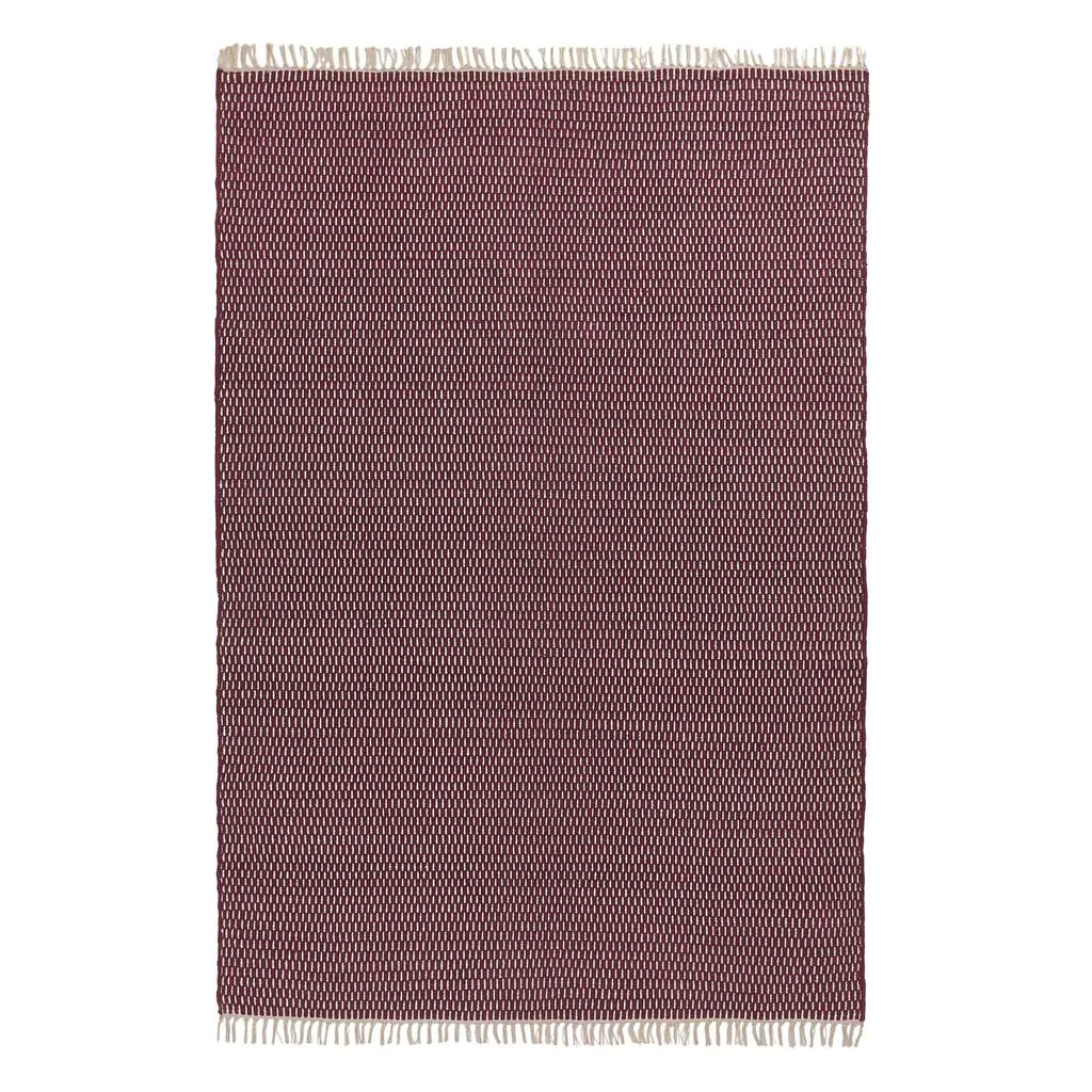 Teppich Weinrot Upani Cotton Rug Bordeaux Red Natural