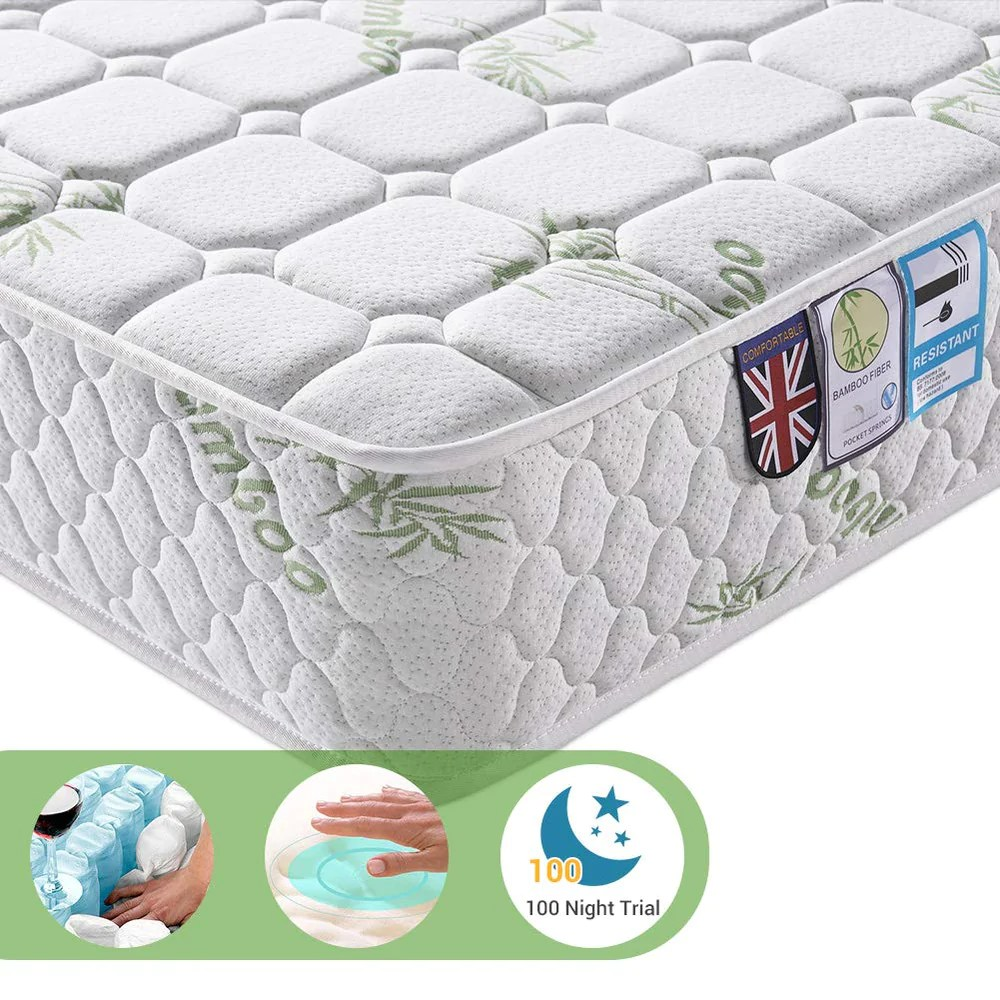 Single Pocket Sprung Memory Foam Mattress 3ft Single Pocket Sprung Mattress With Tencel Fabric Multi