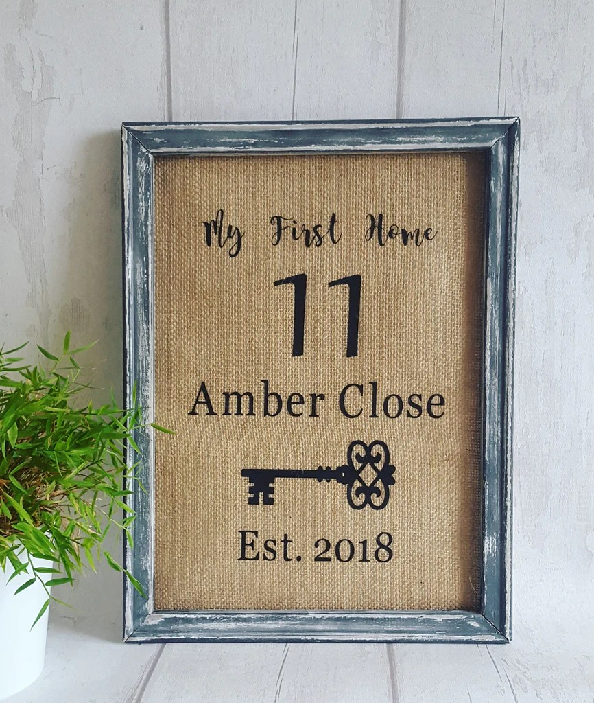 Personalised New Home Gifts Personalised New Home Frame Chic Boutique Personalised Gifts
