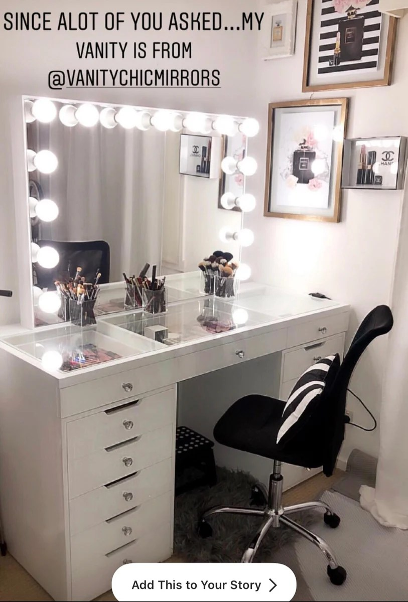 Makeup Table Perth Hollywood Makeup Vanity Mirrors Vanity Chic Mirrors