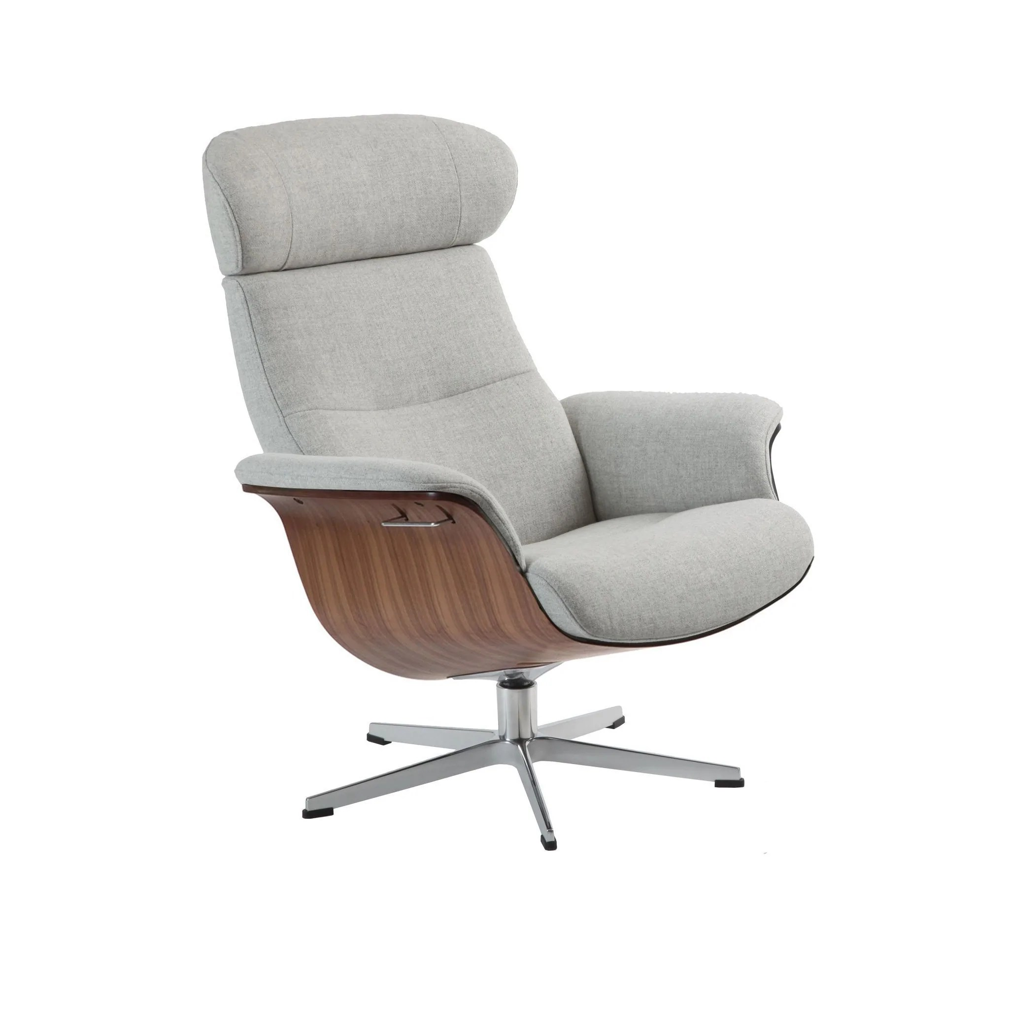 Sessel Mit Beinauflage Relaxsessel Timeout Shefford Lightgray