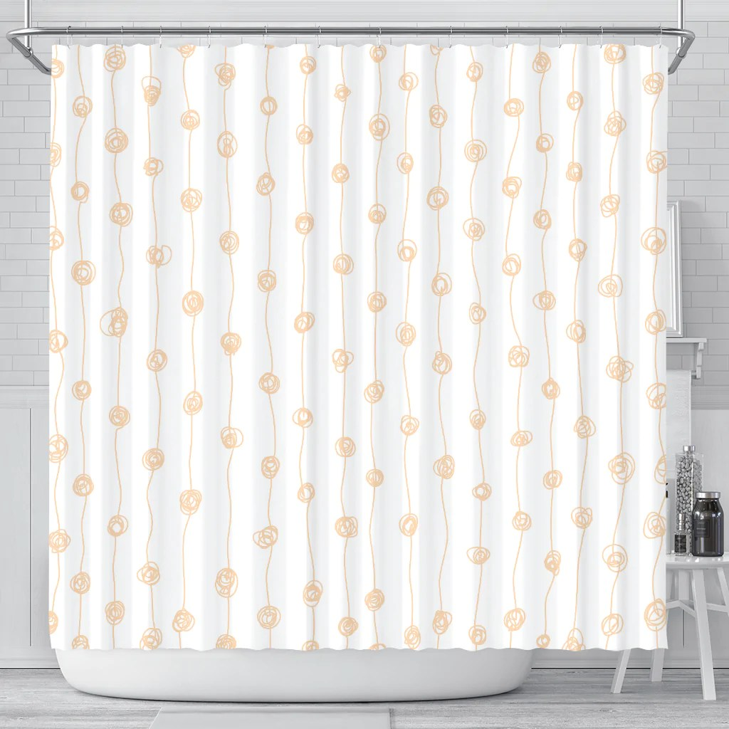82 Shower Curtain Red White Shower Curtain