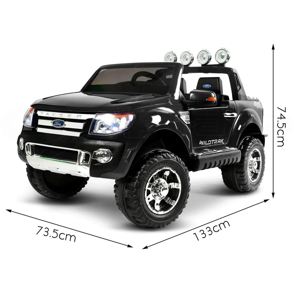 Toddler Car Dashboard Ford Ranger Black Kids Ride On Car