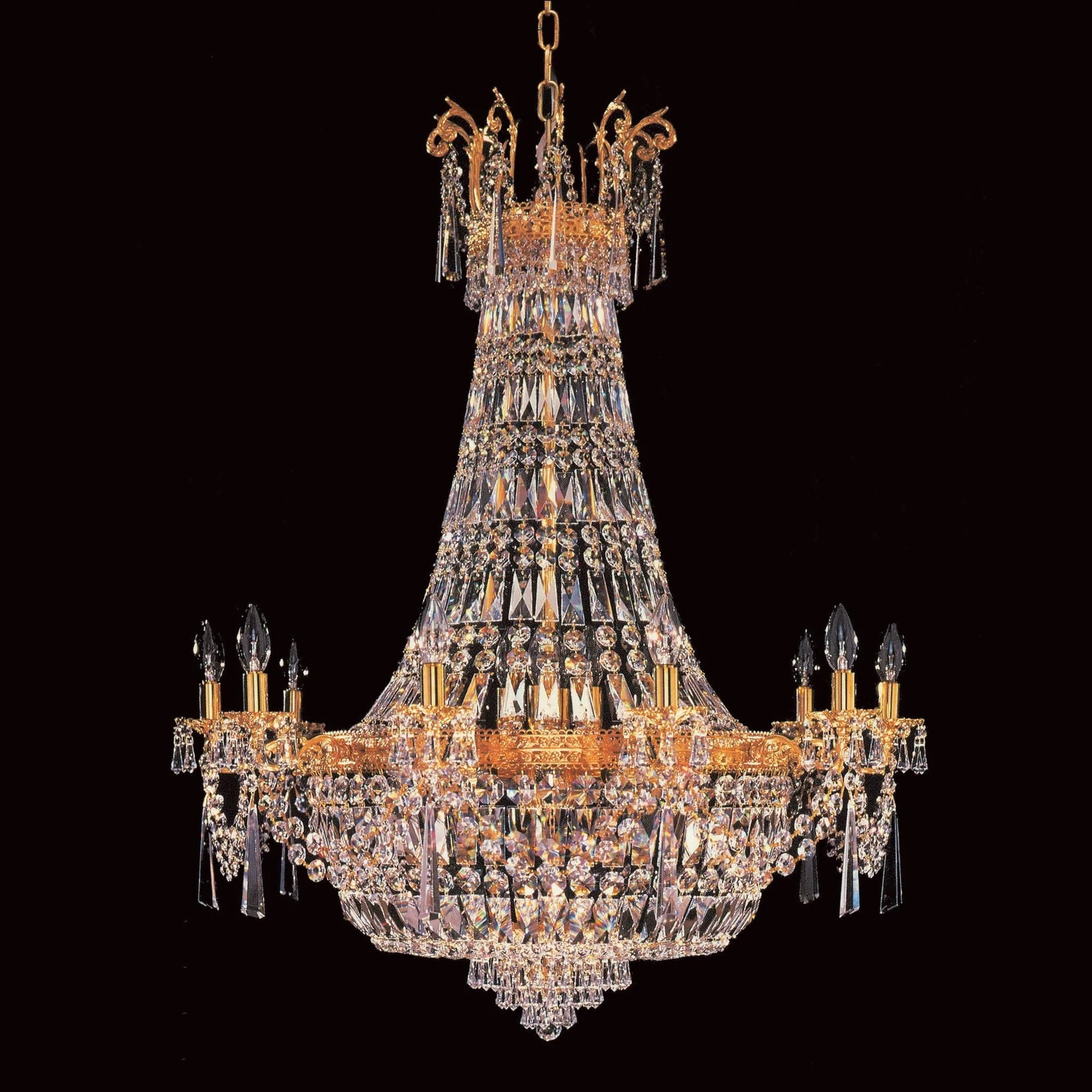 Berlin 24.de Impex Berlin 24 Light Starlite Gold Crystal Chandelier