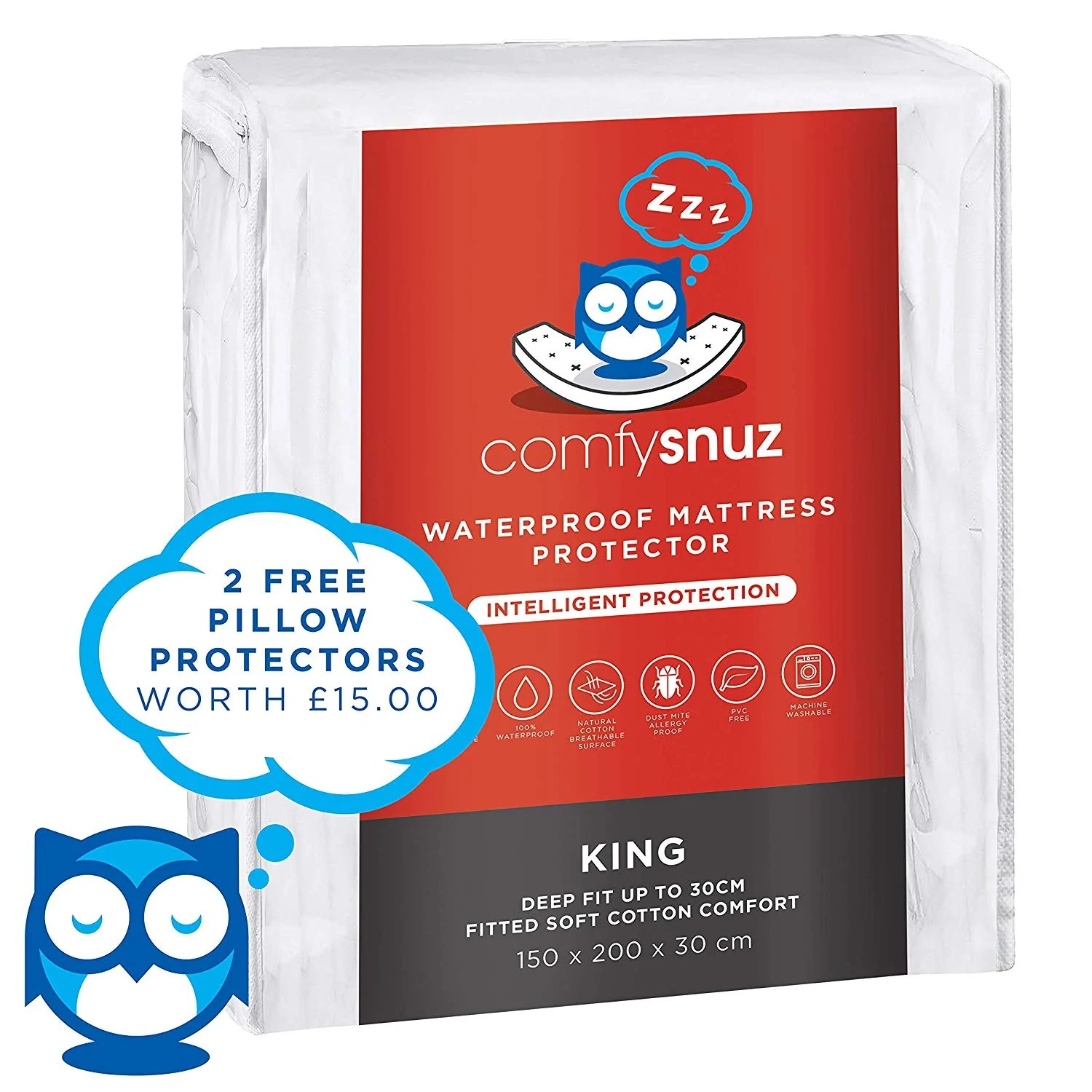 Super King Size Waterproof Mattress Protector Comfysnuz King Size Waterproof Mattress Protector Camby Home