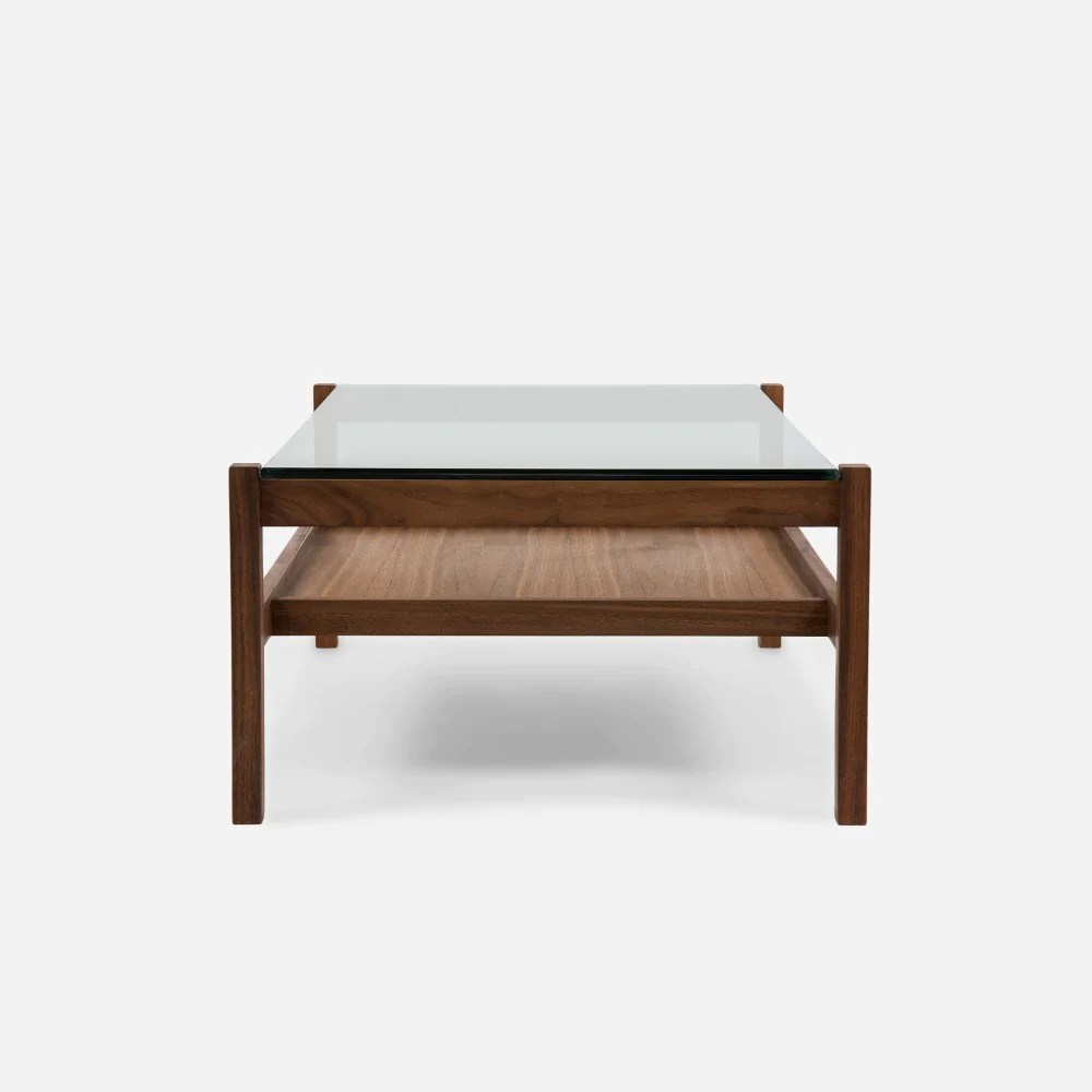 Coffee And Side Tables Split Rail Coffee Table Walnut