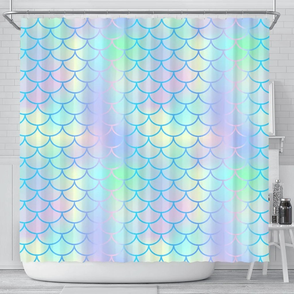 Mermaid Scale Shower Curtain Mermaid Scales Shower Curtain