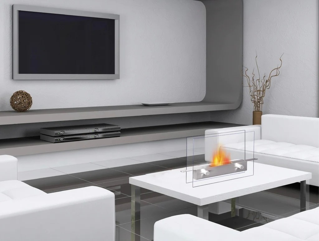 Ethanol Fireplaces Reviews Anywhere Fireplace Metropolitan 90293 Indoor Table Top Ethanol Fireplace
