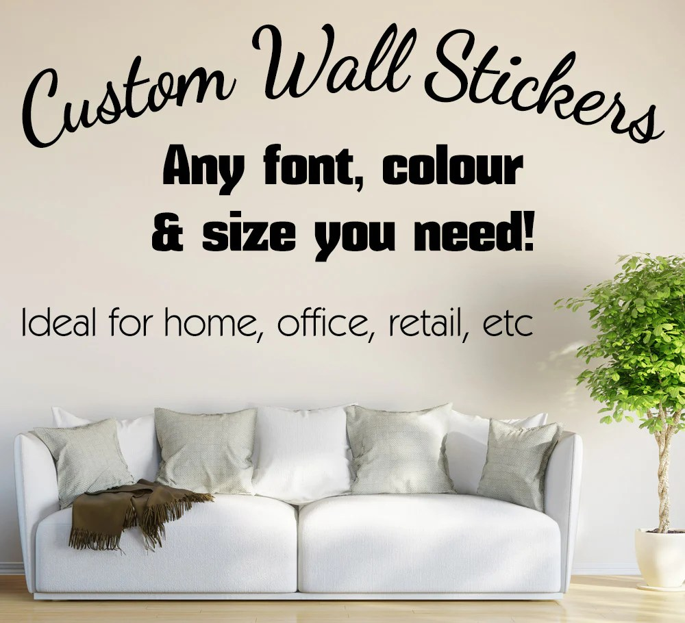 Personalised Sticker Smarty Walls Wall Stickers Decals And Custom Made Stickers