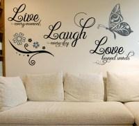 Live Laugh Love Wall Art Sticker  Smarty Walls
