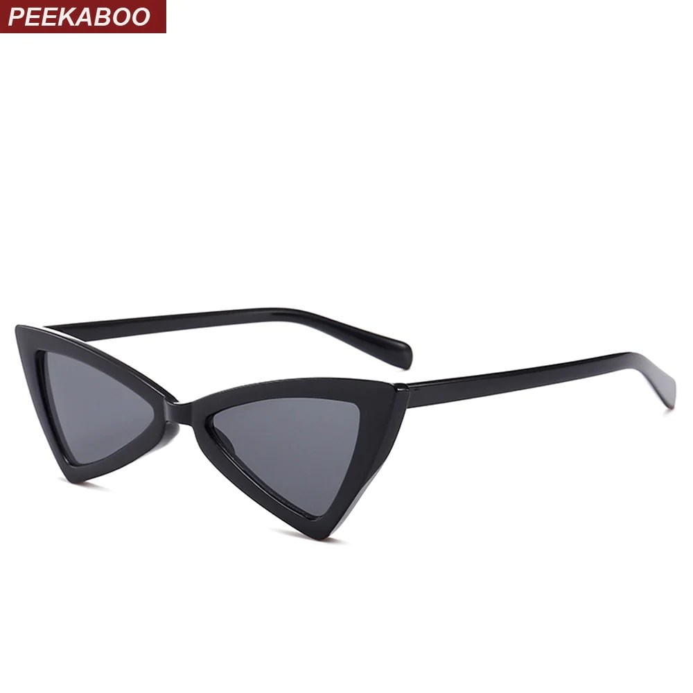 Cheap Glasses Peekaboo Red Triangle Sunglasses Women Cat Eye Vintage Black Leopard Cheap Butterfly Sun Glasses Female New Year Gift 2018