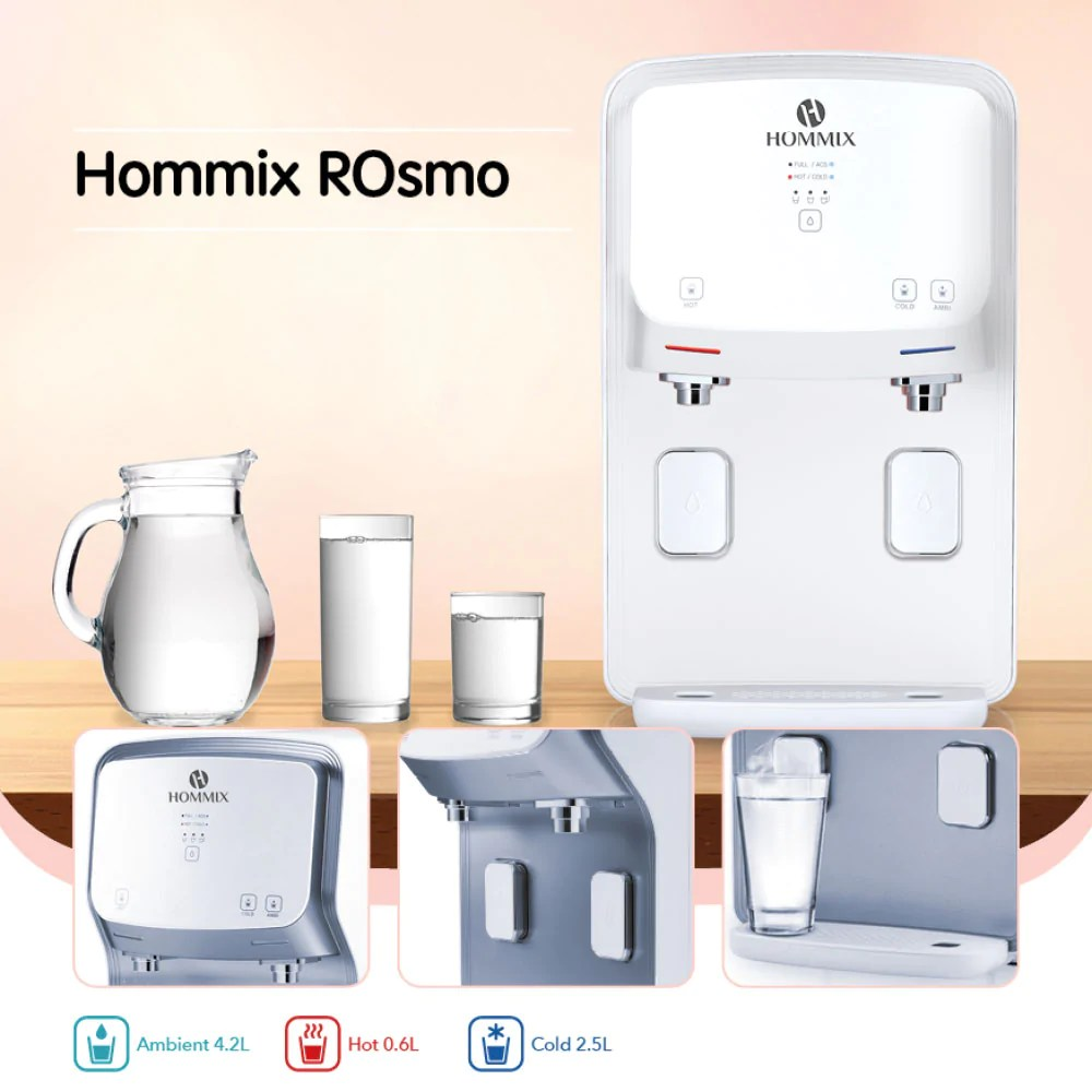 Hommix Rosmo 3 In 1 Countertop Reverse Osmosis Filtration System Uv Hommix Uk