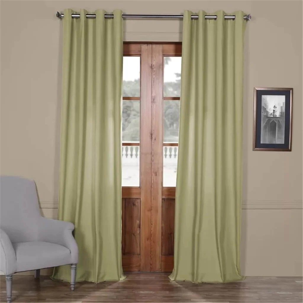 Cotton Curtain Panels Anacari Solid Grommet Indoor Cotton Curtain Panel