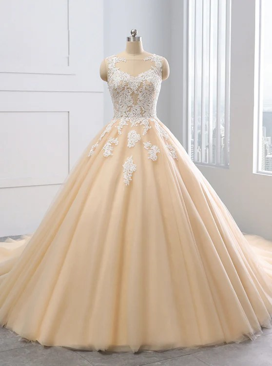 My Junior Prom Ball Gown Wedding Dresses Colored Wedding Dress Tulle Ball