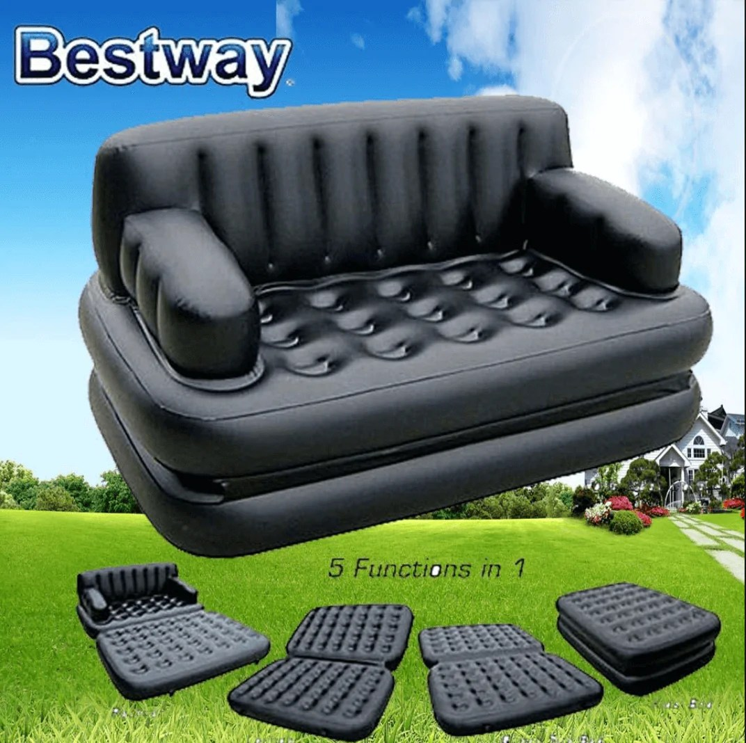 Big Inflatable Couch Bestway 5 In 1 Inflatable Sofa Air Bed With Air Pump