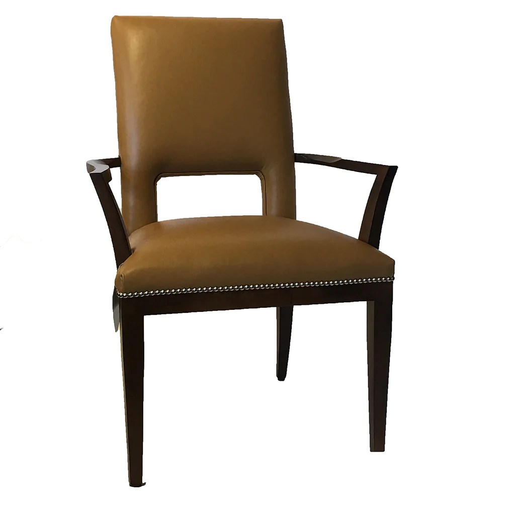 Modern Leather Dining Arm Chairs
