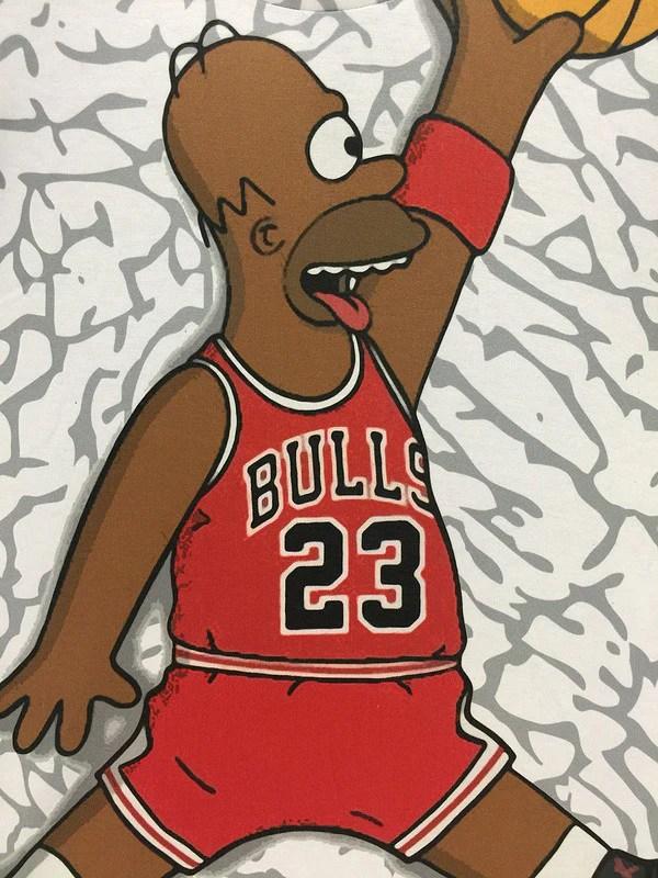 V Letter 3d Wallpaper The Simpsons Homer Simpson Chicago Bulls Basketball