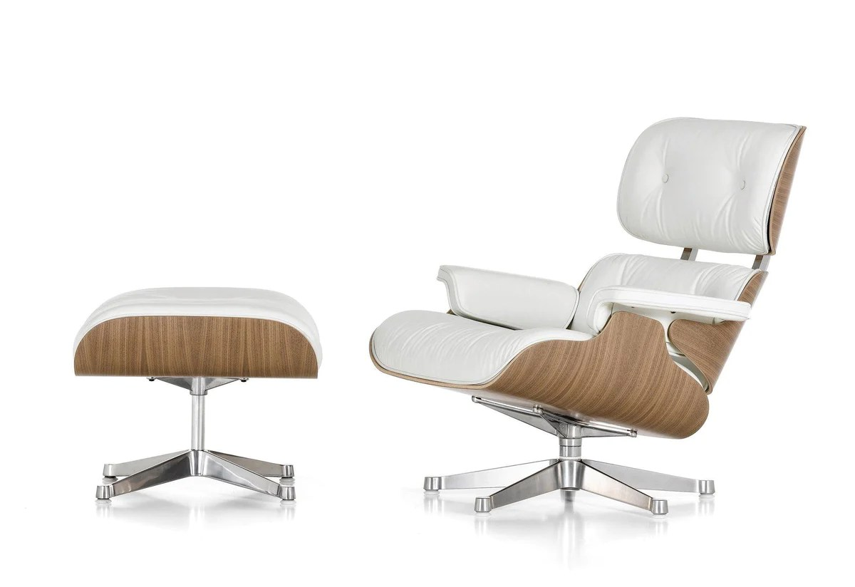 Chair Eames Vitra Eames Lounge Chair & Ottoman - Snow | Twentytwentyone