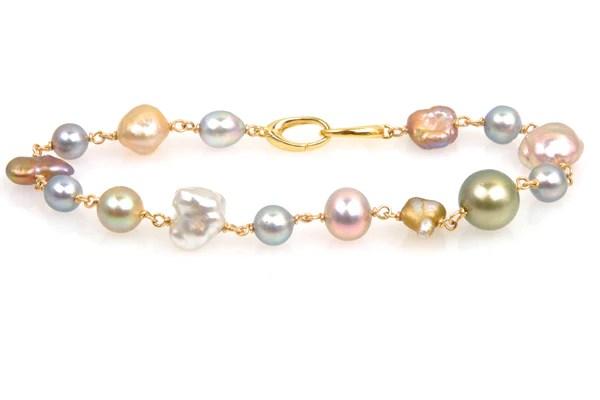 Zia Pearl Medley Bracelet Kojima Pearl