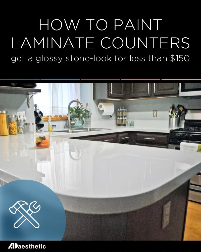 Painted Marble Countertops Diy Glossy Painted Counters Ad Aesthetic