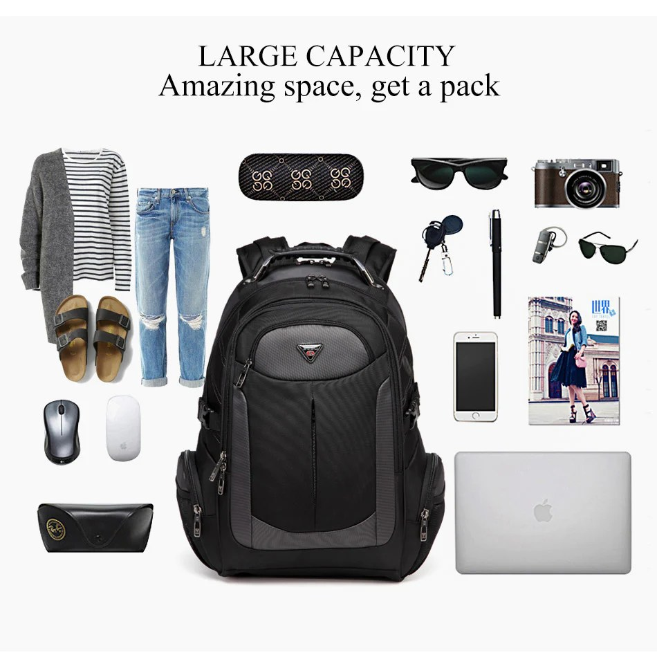 2018 Travel Bags Men S Travel Bags 2018 Multi Function Rucksack Oxford Black Computer Backpack