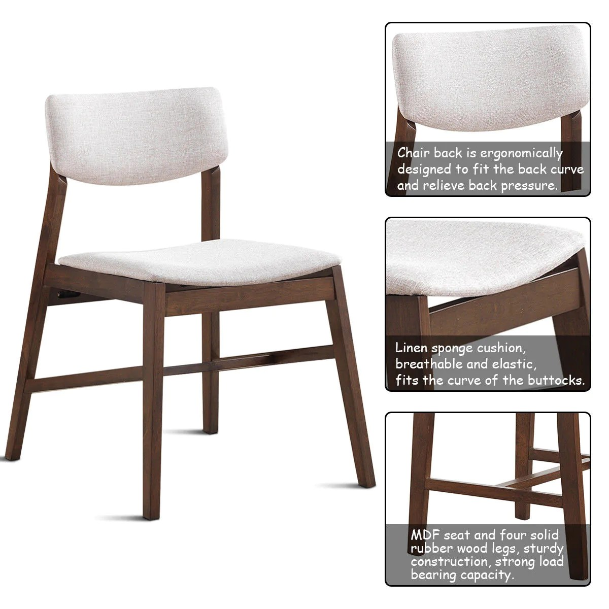 Ikea Bassalt Solid Wood Mid Century Modern Dining Chair White Products