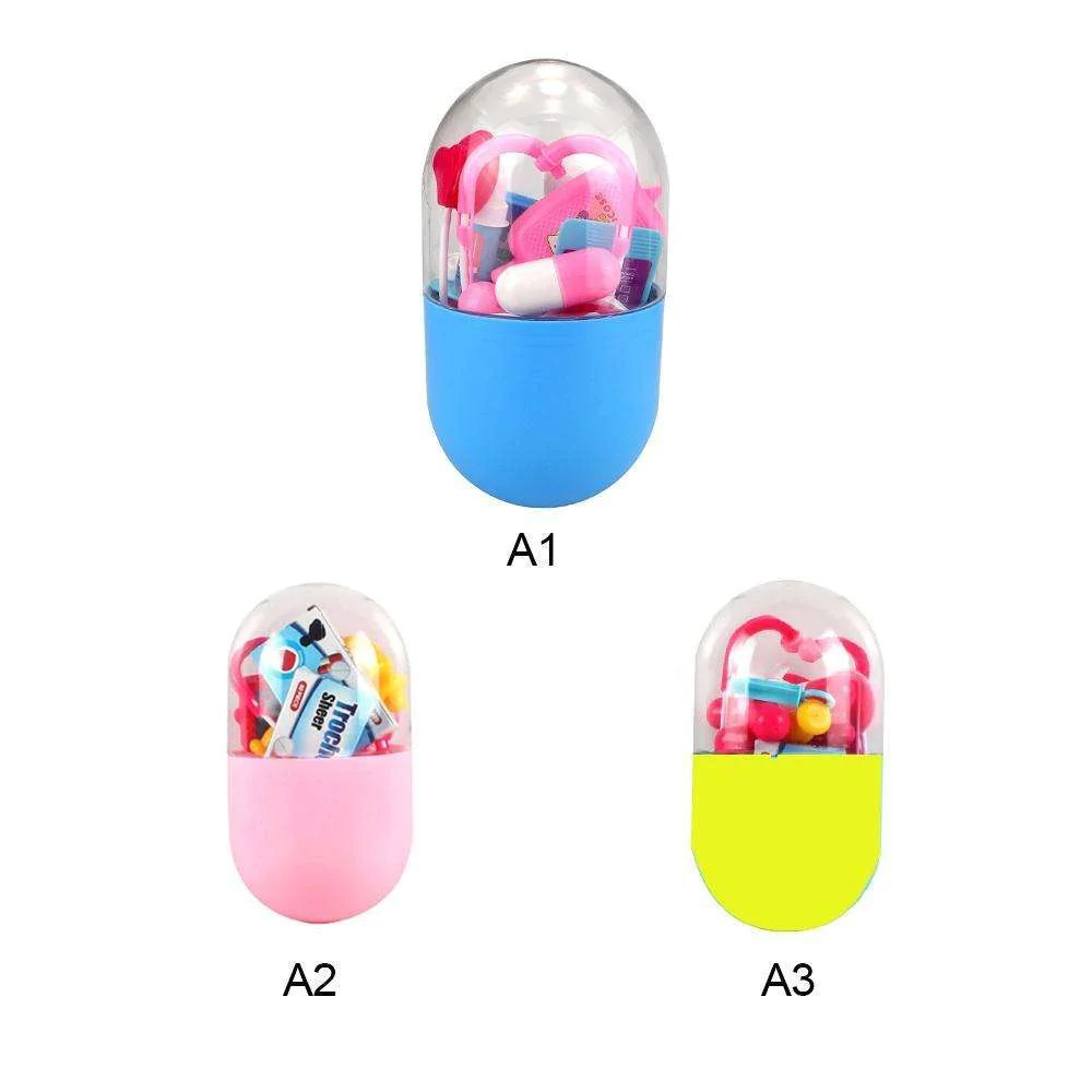 Toy Capsule Toys Kid Pretend Play Doctor Nurse Toy Child Pill Capsule Case Toy Kit Educational Role Play Doctor Toys New